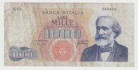 Italy 1000 Lire 1965 VF CRISP Banknote Verdi P 96c 96 C - [ 2] 1946-… : République