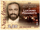 2010 - San Marino 2303 Luciano Pavarotti - Cantanti