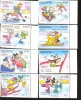 #  S-345  MINT NEVER HINGED SET OF STAMPS OF DISNEY ; OLYMPICS  ( GUYANA   2453-60 - Disney