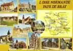 CPSM De L'OISE NORMANDE  (60) : Pays De Bray - Carte + 10 Vues. - Ohne Zuordnung