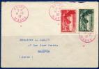Lettre N354/5 Obl Rouge Cote Spink Maury 170€ - France