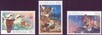 ( 1747 ) Australia - Christmas - 1990 - Birds - Mammals . - Noël