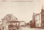 Olne Le Kiosque Et Une Rue Du Village ( Carte Adeps ) - Olne