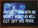 """Howard Stern Show Bravo TV """"cut Off His Penis"""" Postcard - Publicité"""