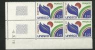 """Coins Datés Service YT 56 """" UNESCO 1F20 """" 1978 Neuf ** - Servizio"""