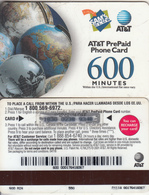 "ALASKA(USA) - Sam""s Club, AT&T Magnetic Prepaid Card 600 Minutes(large Barcode), Used - Altri – America"