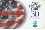 ALASKA(USA) - Wal Mart, AT&T Magnetic Prepaid Card 30 Min, Used - Altri – America