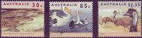( 1764 ) Australia - Fauna - Crocodile-Pelican-Emu . - Stamps