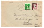 ALGÉRIE Nos 359+360 TIMBRES FRANCE SURCHARGÉS EA OBL KOUBA ALGER OCT 1962 - Postmark Collection (Covers)