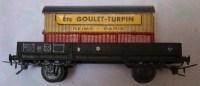 """Un Wagon De Transport - Marque V.B. Inscription """"Ets GOULET - TURPIN Reims, Paris"""" - Goederenwagons"""