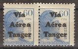 Tanger 137 ** Alegoria. 1939. Via Aerea. Pareja - Marruecos Español