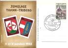 JUMELAGE  THANN  TRIBERG  1963 - Gedenkstempel