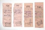 4 Talons Et 1 Lettre De Voiture Cachets De Gare WATERLOO 1941/1948   --  B8/412 - Railway
