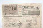Lettre De Voiture Cachet De FORTUNE De Gare COURTRAI KORTRIJK 1920 Vers ESSCHEN --  B8/420 - Railway
