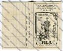 CALENDARIO FORMATO PICCOLO FILA ANNO 1926 1927 PUBBLICITA - Calendari