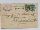 ENTIER POSTAL 5 PFENNIG PLUS TIMBRE 5 PFENNIG POSTE DE HAMBOURG EN 1890 - Unclassified