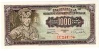 Yugoslavia 1000 Dinara 1955. UNC P-71 - Yougoslavie