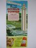 Florida Citrus Tower Clermont Florida USA 1970s Leaflet Flyer Handbill