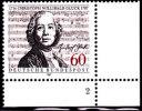 408) Deutschland MiNr 1343 ** Mit Formnummer 2 (Eckrand): Gluck, Komponist Composer Compositeur - Musik