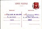 MB 410) Frankreich GS P 98, Orts-Postkarte 1943 Mit Poststempel: 'PARIS  R. GLUCK' Komponist Composer Compositeur - Musik