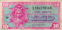 SERIE 461 USA 10 Cents Certificato Di Pagamento Militari Vedi Foto - 1954-1958 - Series 521
