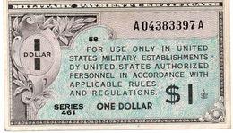 SERIE 461 USA 1 Dollari Certificato Di Pagamento Militari Vedi Foto - Military Payment Certificates (1946-1973)