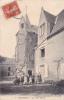 18577 ECOMMOY. VIEILLE MAISON . Chavalier Dourin Libraire . Enfants Devant La Tour