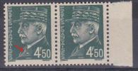 FRANCE  VARIETE   N° YVERT  521B  TYPE HOURRIEZ   NEUFS LUXE - Variétés: 1941-44 Neufs