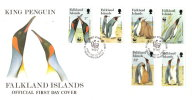 1991 FALKLAND ISLANDS BIRDS (KING PENGUIN) FDC FIRST DAY COVER - PRISTINE - Oiseaux