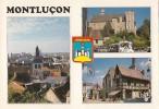 Montlucon-blason -carte De QSL- Desertines- - Radio Amatoriale