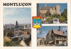 Montlucon-blason -carte De QSL- Desertines- - Radio-amateur