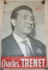 Affiche - Charles TRENET -  Disques Colombia - 50,5 Cm X 38,5 Cm - Posters