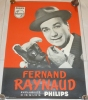 Affiche - Fernand RAYNAUD -  Disques Philips - 39.5 Cm X 28,5 Cm - Posters