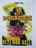Dominatrix Sensual Erotic Domination Bondage London Sex Worker Prostitute Phone Box Postcard - Pin-Ups