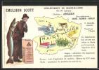 CPA Angers, Fischer Mit Seinem Fang, Reklame Emulsion Scott, Departement, Steinmetz - Angers