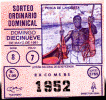 Republica De Panama - Loteria - Lottery  - Pesca De Langosta - Lobster - 1991 - Lottery Tickets