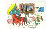 CPM 24 Les Graulges Salutations Carte Humoristique Avec Photo + Vache,cochon, Chèvre, Poule Chien Chat - Sonstige Gemeinden