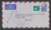 India 1956 COVER TO FRANCE # 28845 Inde Indien - 1950-59 Republic