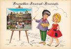 18612 Bruxelles Brussel Brussels. Peintre Dessin Frankie ?  Couple . Un Bonjour De .. Kruger 922.55 - Belgique