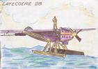 18618 Carte Postale Dessinée Main. Latecoere 28. Hydravion - Beaufils Guy Bezons Mécanicien Navigant