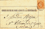 PLM SNCF GARE ST ETIENNE DE ST GEOIRS AVIS ISERE 1870 CHEMIN DE FER DE PARIS A LYON ET A LA MEDITERRANEE - 1863-1870 Napoléon III Con Laureles