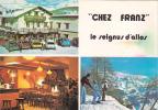 """18625 Le SEIGNUS D'ALLOS France 04 - Hôtel Restaurant """"chez Franz"""" . Ski Sports D'hivers 2cv -Eric Polski"""