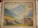 Huile Sur Carton Hte Savoie Montagnes, Signé Marcel Mergier - Olii