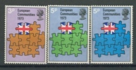 GREAT BRITAIN 1973 YV 675-677 MEMBERSHIP OF GREAT BRITAIN EUROPEAN COMMUNITY. MNH, POSTFRIS, NEUF**. VERY FINE QUALITY. - Europa-CEPT