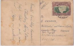 RHODESIE Du SUD - 1910 - CARTE POSTALE Par AVION Pour La TCHECOSLOVAQUIE - Rhodesien & Nyasaland (1954-1963)