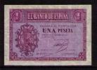ESPAÑA 1937 - BILLETE DE 1 PESETA (12 OCTUBRE) MUY BONITO - [ 3] 1936-1975 : Régence De Franco