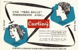 """Buvard """"Curling Pour Une Belle Permanente """" - Buvards, Protège-cahiers Illustrés"""