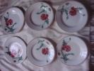 6 Petites Assiettes à Dessert H.B.C.M Montereau Luxeuil - Creil Montereau (FRA)
