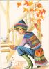 18643 Dessin Femme Année 1970 . Hivers Automne Jacquard. Coupe D´or Du Bon Gout Glacée 50971 - Non Signée