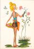 18650 Dessin Femme Année 1970 . Rosiere Mini Jupe -coupe D´or Du Bon Gout Glacée 50889 - Signée CF - Femmes